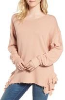 Current/Elliott Women's The Slouchy Ruffle Sweatshirt