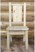 Abella Rustic Solid Wood Dining Chair Loon Peak Color: Clear Lacquer
