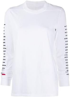 Rick Owens multi-logo print T-shirt
