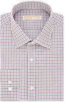 MICHAEL Michael Kors Men's Classic/Regular Fit Red Check Dress Shirt