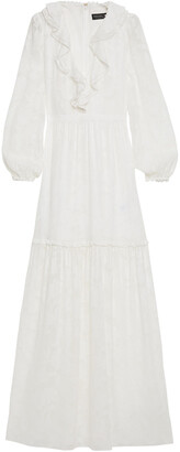 Rachel Zoe Ruffled Devore-chiffon Maxi Dress