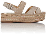 Prada Women's Slingback Platform Espadrille Sandals-NUDE