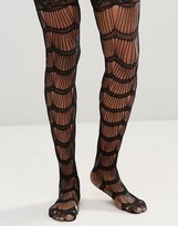 Leg Avenue Scalloped Eyelash Stay Up Stockings