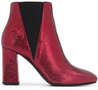 Pollini metallic ankle boots
