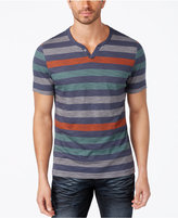 INC International Concepts Men's Heathered Striped T-Shirt, Created for Macy's