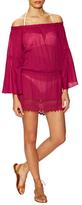 Sofia by Vix Solid Drop Shoulder Short Dress