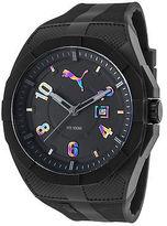 Puma PU103501012 Men's Iconic Black Rubber Black Dial Black Plastic