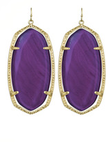 Kendra Scott Danielle Earrings, Purple Agate