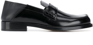 Maison Margiela Leather Four-Stitch Loafers