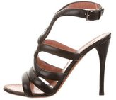 Alaia Leather Cut Out Sandals