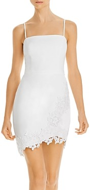 BCBGMAXAZRIA Lace-Applique Mini Dress