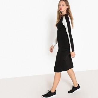 La Redoute Collections Jersey Bodycon Striped Midi Dress
