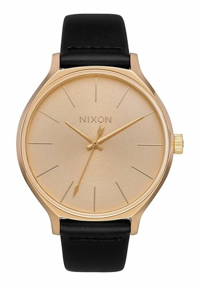 Nixon Womens Analogue Quartz Watch with Leather Strap A1250-510-00