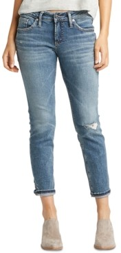 Silver Jeans Co. Ripped Cuffed Boyfriend Jeans