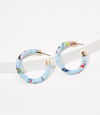 LOFT Fabric Wrapped Hoop Earrings