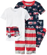 Carter's Boys 10-12 4-Piece Firetruck Pajama Set