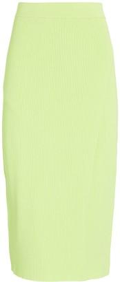 Jonathan Simkhai Jolene Ribbed Wrap Midi Skirt