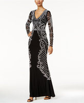 Xscape Evenings Beaded Illusion Gown