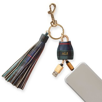 Mark & Graham Power Up Lightning to USB Tassel Keychain, Plaid