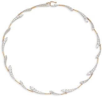 Adriana Orsini Goldplated Rhodium-Plated Sterling Silver Crystal Necklace