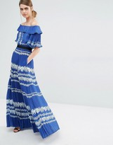 Self-Portrait Self Portrait Off Shoulder Maxi Dress