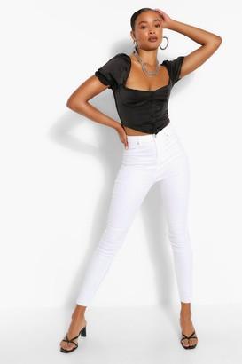 boohoo Skinny White Jean