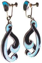 One Kings Lane Vintage Margot de Taxco Turquoise Swirl Earrings