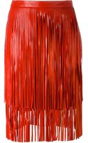Drome fringed leather skirt