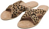 M&Co Leopard Leather Slider
