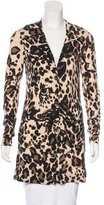 Diane von Furstenberg Leopard Print Button-Up Cardigan