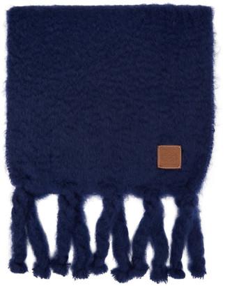 Loewe Blue Mohair Scarf