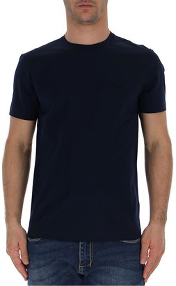 Prada Logo Embroidered T-Shirt