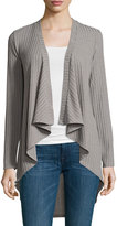 Neiman Marcus Ribbed Open-Front Jacket