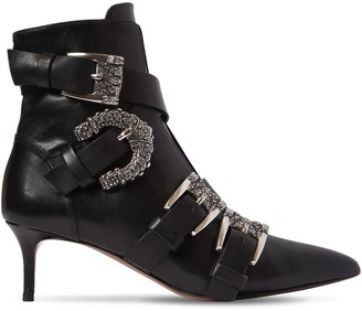 Etro 55mm Buckled Leather Ankle Boots