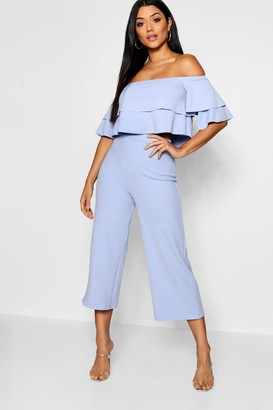 boohoo Double Bandeau Top And Culotte Co-Ord Set