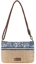 Sakroots Women's Boca Straw Convertible Clutch - Navy Spirit Desert Small Handbags