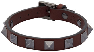 Valentino Burgundy Garavani Rockstud Bracelet