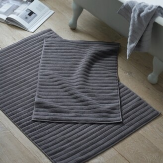The White Company Hydrocotton Bath Mat, Slate, Large