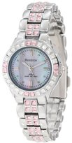 Swarovski Armitron Women's 75/3689PMSV Pink Colored Crystal Accented Silver-Tone Watch