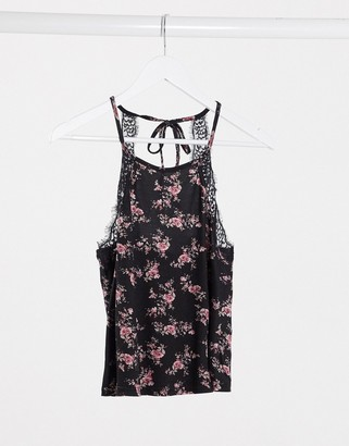 New Look soft touch pyjama cami in floral