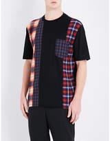 Lanvin Patchwork-panel Cotton-jersey T-shirt