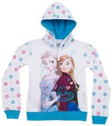 Disney Frozen Anna & Elsa Youth Big Girls Zip Up Fleece Hoodie Hooded Sweatshirt