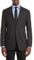 Armani Collezioni Men's Trim Fit Plaid Wool Sport Coat