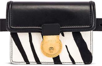 Versace Zebra Belt Bag in Black & White | FWRD
