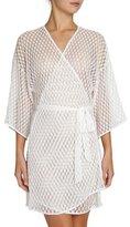 Eberjey Love Always Lace Kimono Robe, Ivory