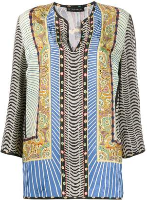 Etro mixed-print loose-fit blouse