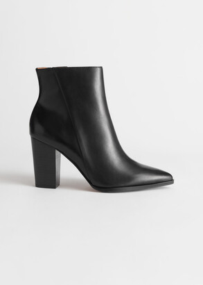 And other stories Leather Pointed Ankle Boots