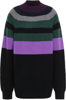 Victoria Victoria Beckham Victoria, Victoria Beckham Striped Wool-blend Sweater