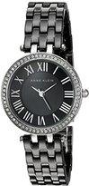 Anne Klein Women's AK/2201BKSV Swarovski Crystal Accented Black Ceramic Bracelet Watch