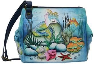 Anuschka Women's Genuine Leather Bag - Triple Compartment Convertible Tote -